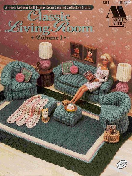 Вязаная гостиная для Барби