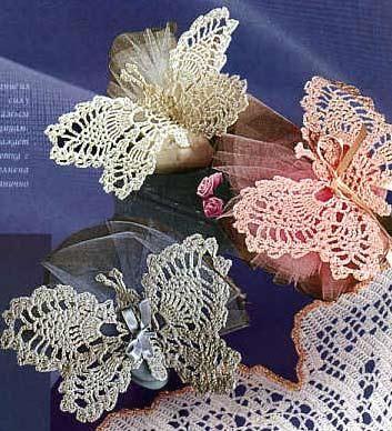 Вязаные крючком бабочки