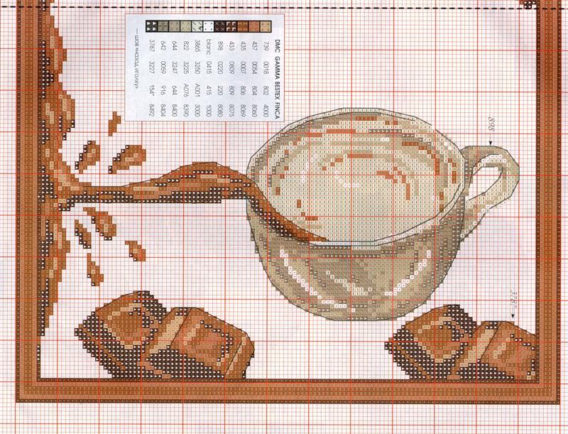 Вышивка монохромная для кухни 57