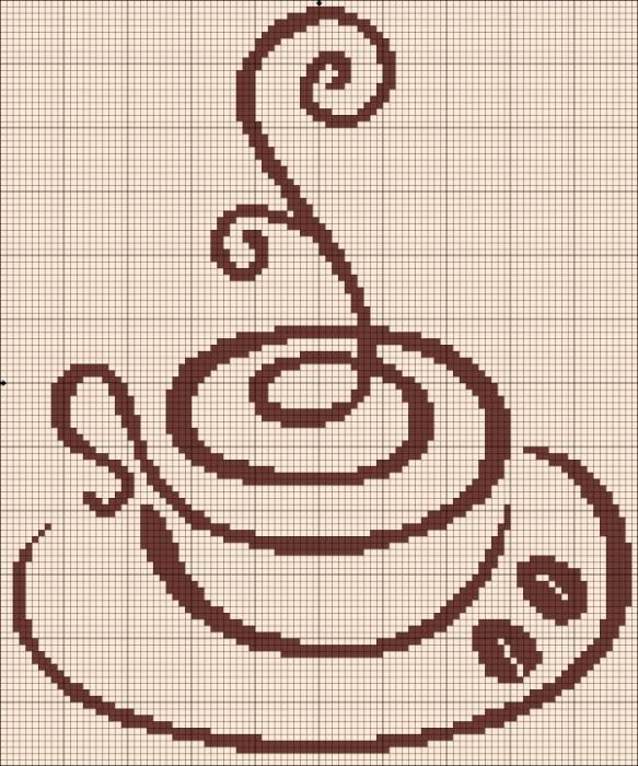 Чашка кофе. / Вышивка / Схемы вышивки крестом In the kitchen 38