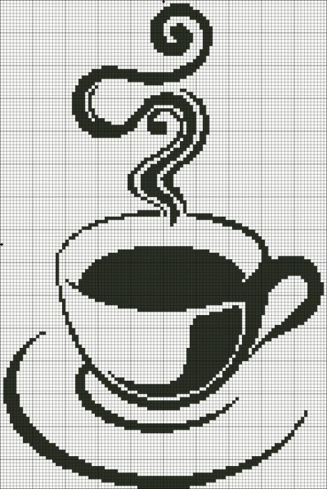 Монохромная вышивка кофе вышивка