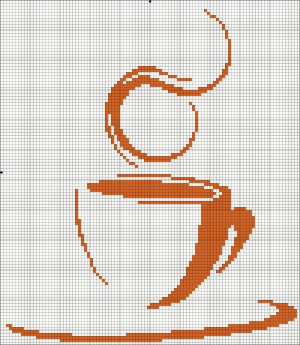 Вышивка крестом кофе схема 54